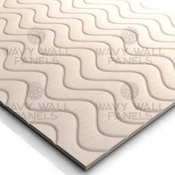 T8003 Sine Wave MDF Wall Panel
