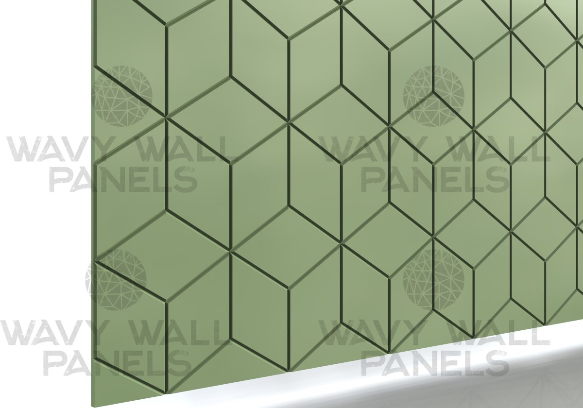 V-Groove 3D Boxes Wall Panel 2.43m x 1.1m