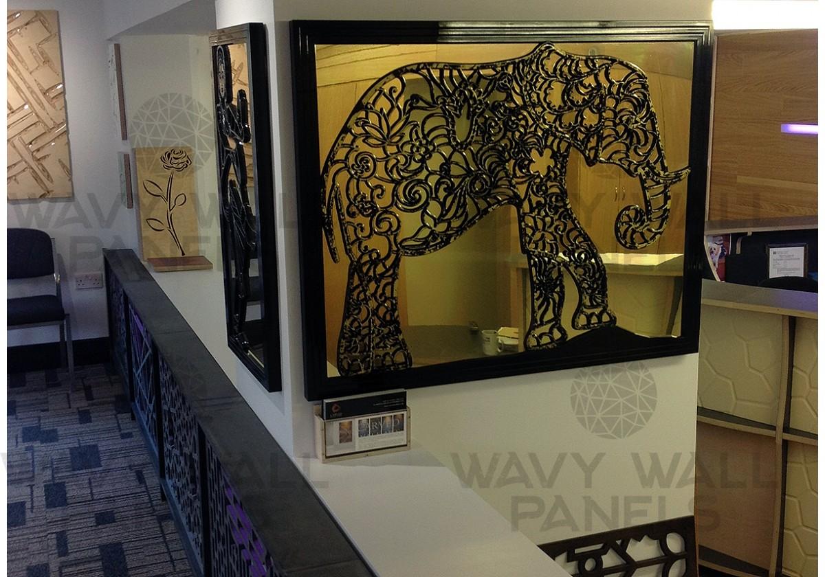 Elephant Fretwork Wall Art