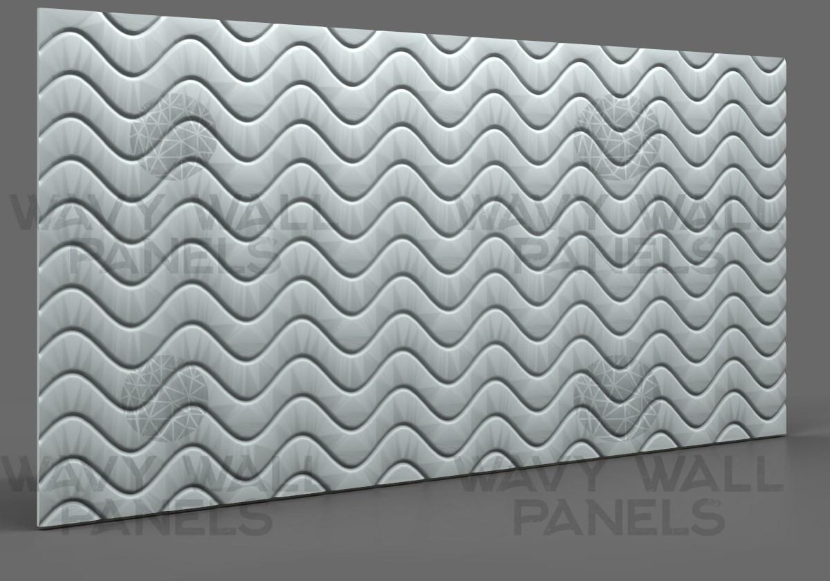 T8003 Sine Wave MDF Wall Panel