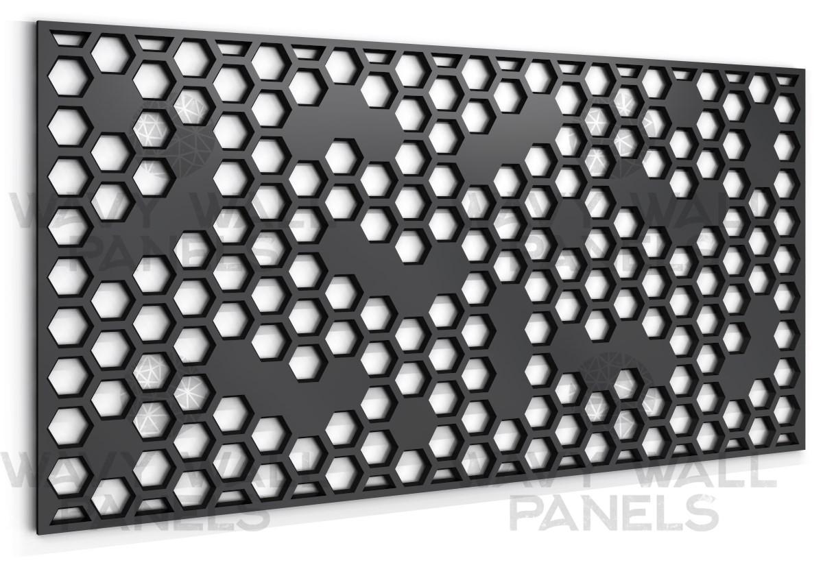 30 905 Honeycomb R2 Hexagonal Fretwork Screen
