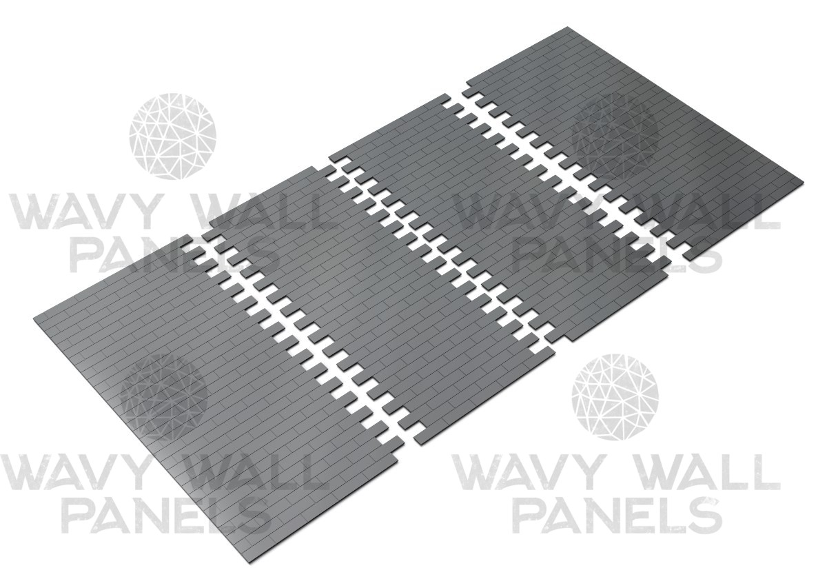Brick Tile V3 Connector Mdf Wall Panel