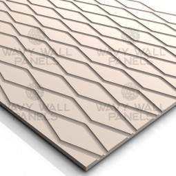T8001 Diamond Wave MDF Wall Panel