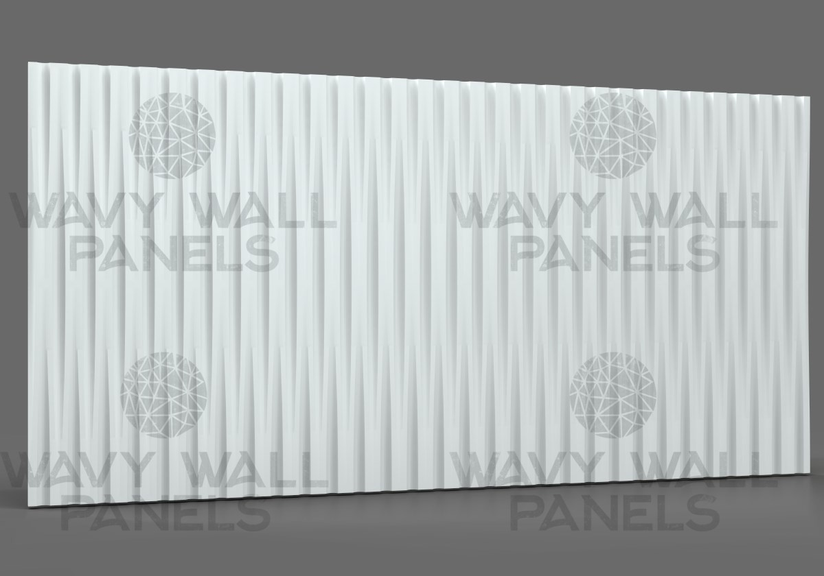 T8020 Long Linear Wave MDF Wall Panel