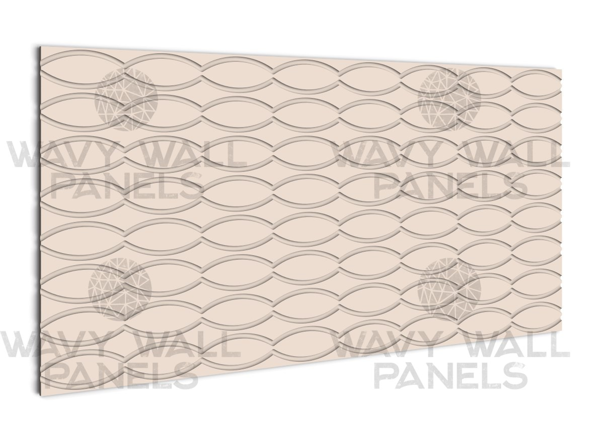 T8008 Oval Fluted MDF Wall Panel
