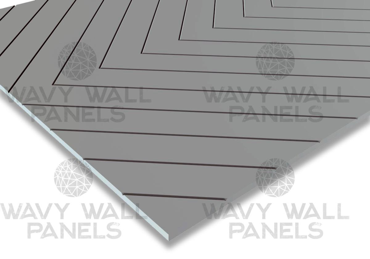 V-Groove Diagonal Wall Panel 2.4m x 1.2m