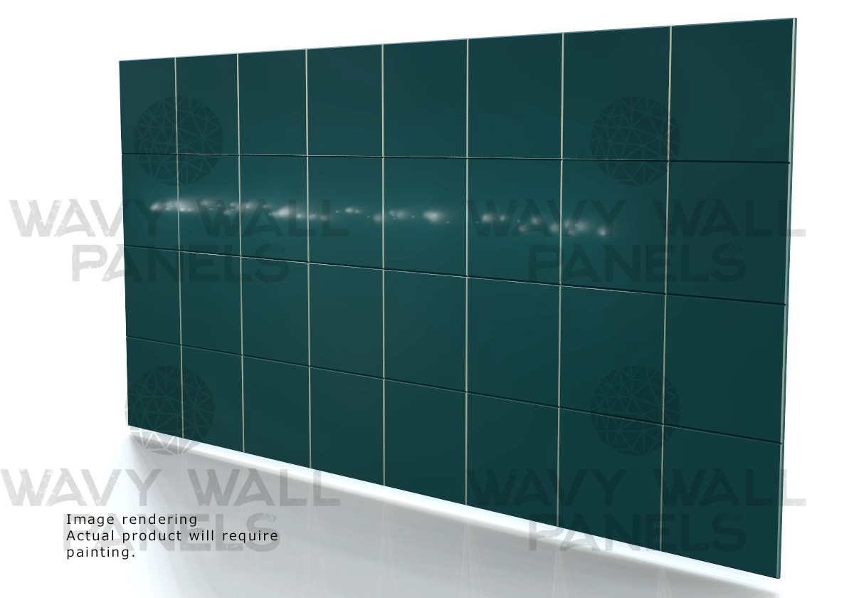 V-Groove Squares Wall Panel 2.4m x 1.2m